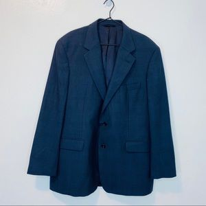 Brooks Brothers men's navy blue two button blazer